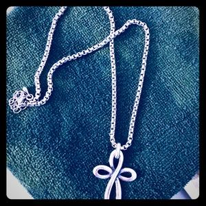 Sterling silver cross necklace from Italy